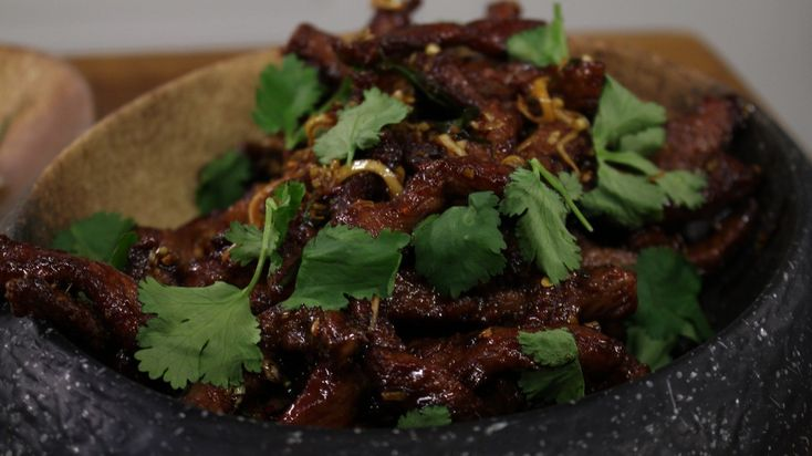 Deep fried chilli beef