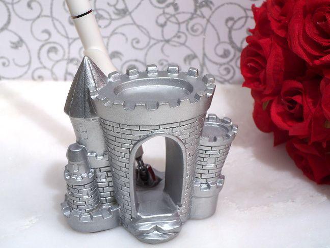 silver castle pen set
