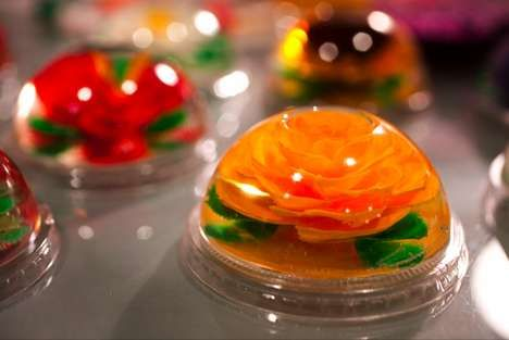 Looks like a paper weight but is a Mexican gelatin dessert made by Rosario Gamboa of Canela Bakery