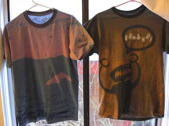 T-shirt Designs with Stencils and Bleach
