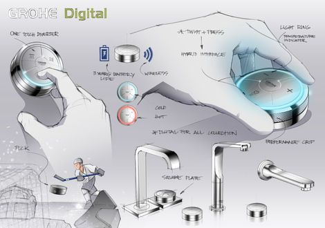 Veris F-Digital Flexibility for your GROHE SPA®  Wireless technology. Push-button operation. Experience the convenience of digital technolog...