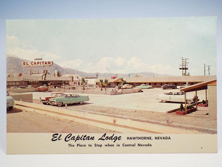 Vintage 1940s El Capitan Lodge Hawthorne Nv Nevada Postcard Rare Cards Pinterest And Hotel Motel