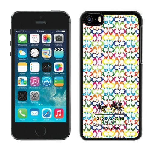 Coach Logo Multicolor iPhone 5C Cases DRA