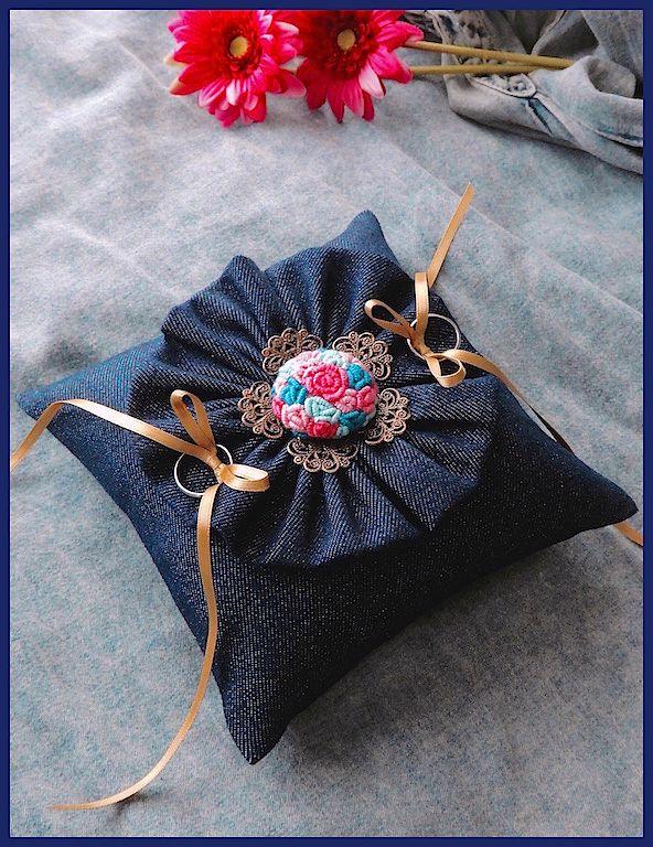 ateliersarah's ring pillow/denim
