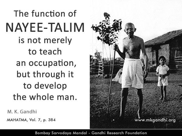Thought For The Day Basic Education Mahatmagandhi Quote On