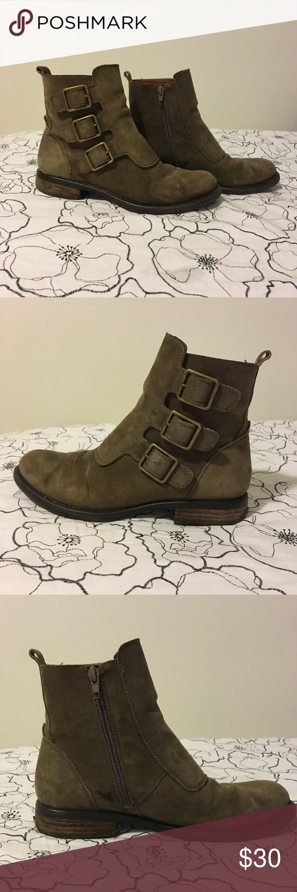 Size 8 Lucky Brand Booties Lucky Brand Suede Booties  Size 8  Great boots to dress up or down. They stay dry in the snow and rain. Super comfortable and great for all day walking. Lucky Brand Shoes Ankle Boots & Booties