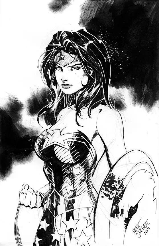 detective-comics:  Wonder Woman by Jim Lee