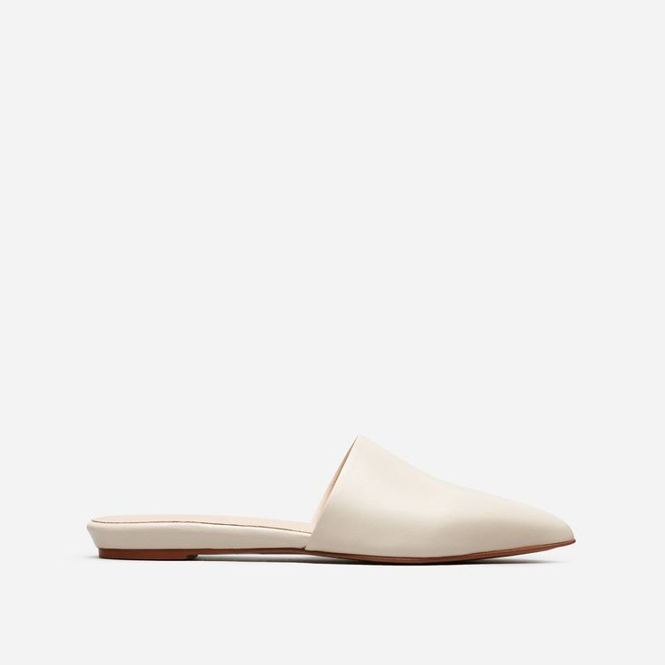 To the point. Our pointed toe slide has modern good looks and effortless slip-on ease—plus, it's made of buttery soft Nappa leather. Save yourself another five minutes in the morning.