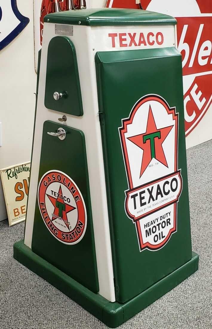 The Texas Company Texaco Fire Chief Gasoline Tin Metal Sign Gas /& Oil Retro