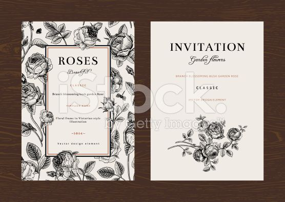 Floral vector vertical vintage invitation. royalty-free stock vector art