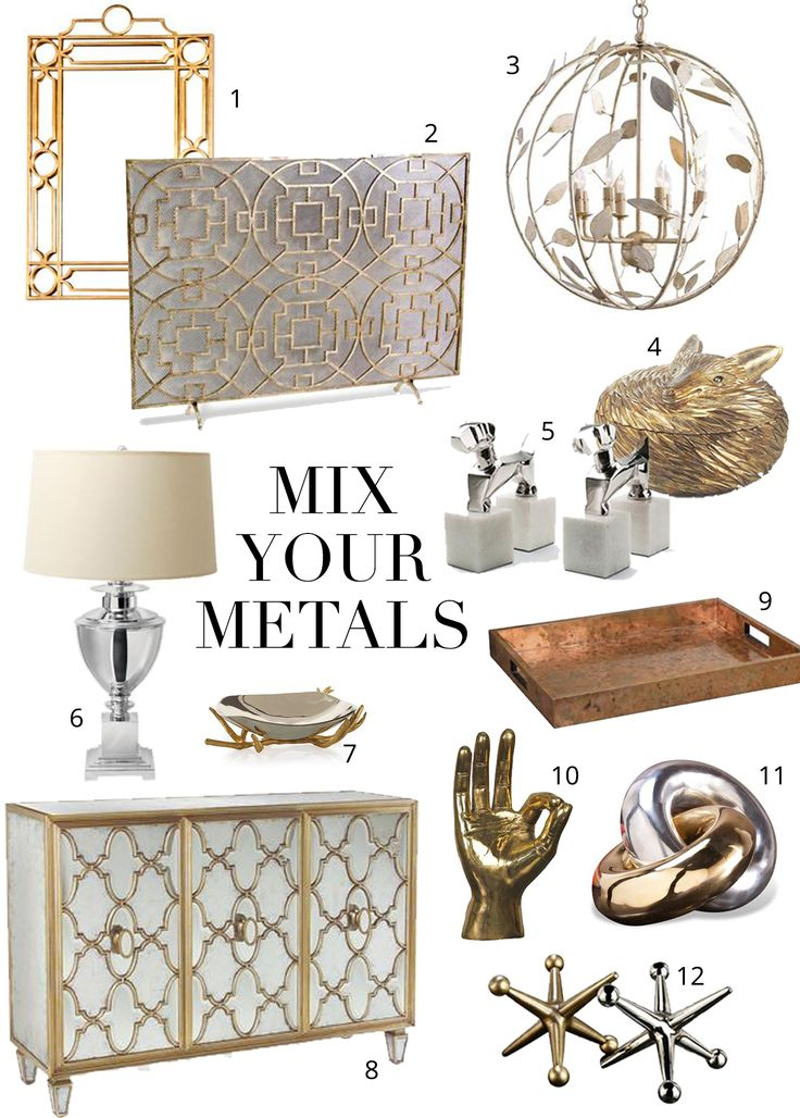 Oil and water. Cellphones and swimming pools. Toothpaste and orange juice. Me and my alarm clock… Some things just don't mix well together. You may have heard this unfortunate design rumor about mixing metals, but it's time to dispose of that outdated advice. Combining silver, gold, brass, or iron (just to name a few), is a …