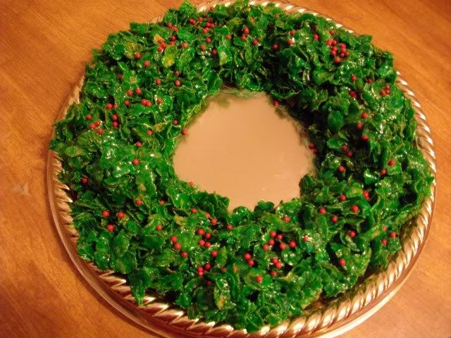 Corn Flake Christmas Wreath - used to make this with my mom.