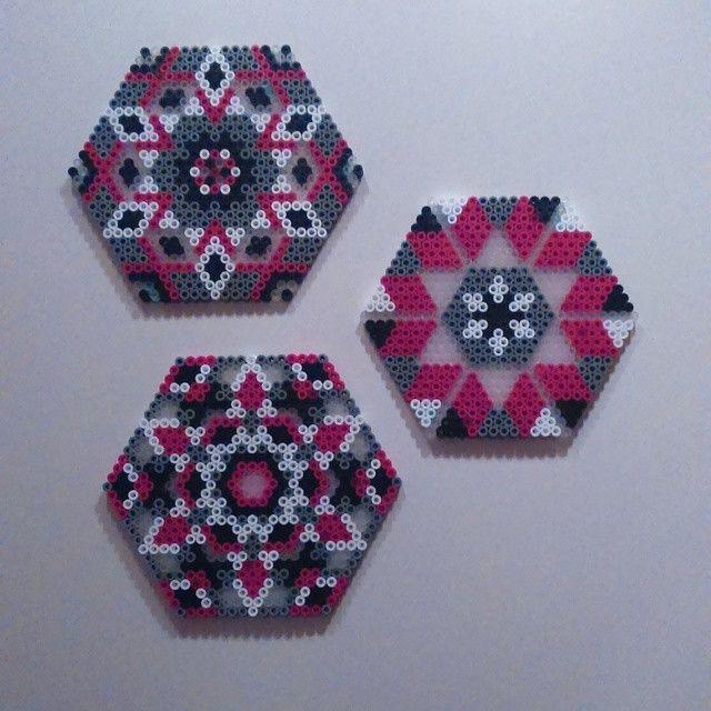 Coaster set hama beads by evakaroline84