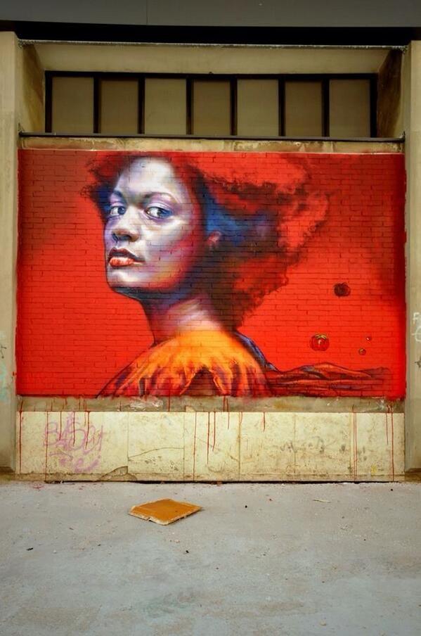 Cactus E Maria portrait styled Street Art / Mural at Pescara #Italy