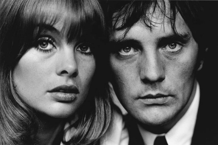 Jean Shrimpton et Terence Stamp, London, 1963, by Terry O'NEILL
