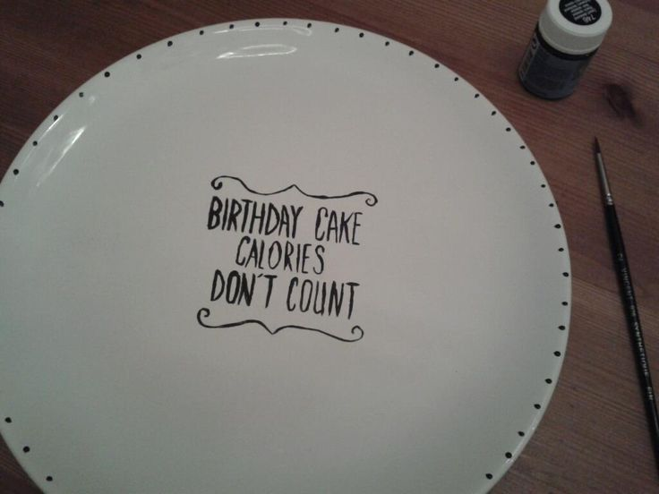 such great birthday gift.. porcelain paint plate - DIY by accordingtonoes
