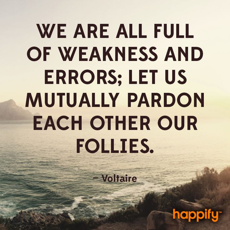 Here's Why We All Deserve Forgiveness - Voltaire