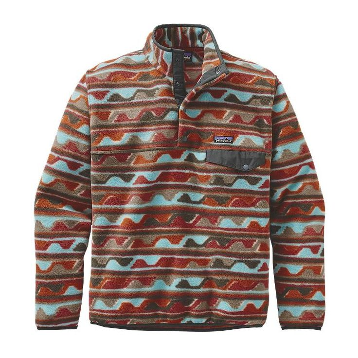 Patagonia Men\'s Lightweight Synchilla\u00AE Snap-T\u00AE Fleece Pullover - Delta: Cinder Red DCDR