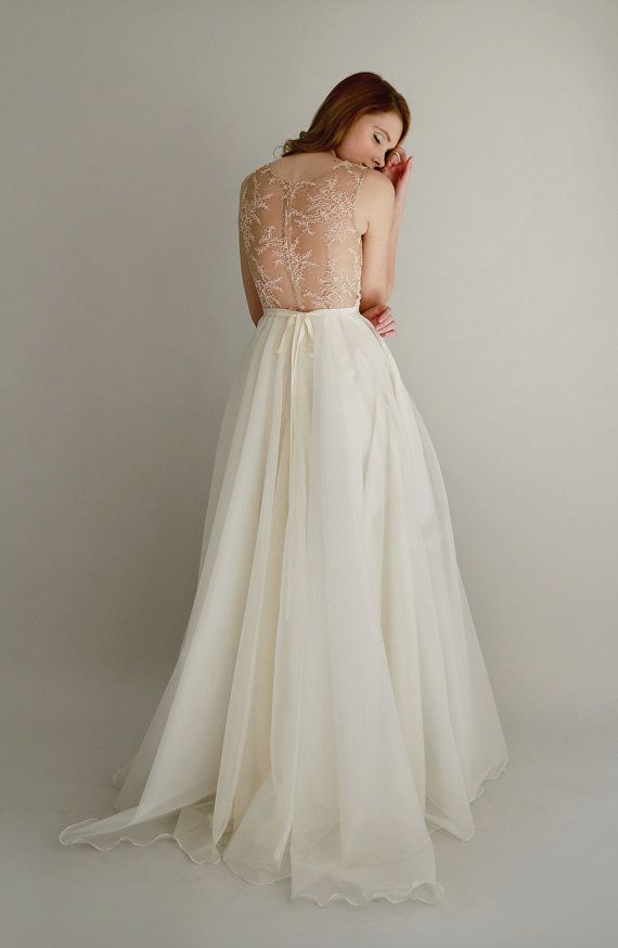 gorgeous wedding gown, and namesake | danielle lace and silk chiffon gown by Leanne Marshall