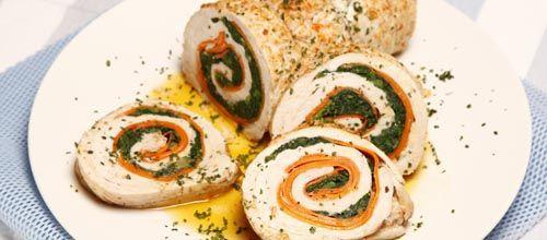 Receita de Rolo de peru com legumes. Descubra como cozinhar Rolo de peru com legumes de maneira prática e deliciosa com a Teleculinaria!