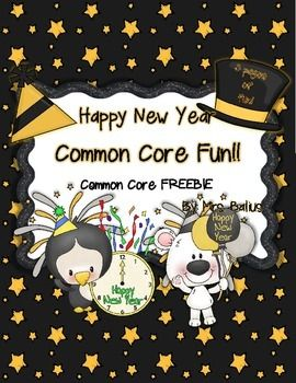 Welcome to Happy New Year Freebie: Three pages of Common Core fun! I have used these practice pages over and over in centers and for independent practice. This skills are aligned with the Common Core and with the TEKS.