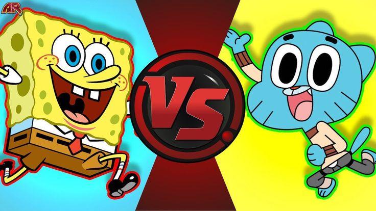 SPONGEBOB SQUAREPANTS vs GUMBALL WATTERSON! (Nickelodeon vs Cartoon Netw...