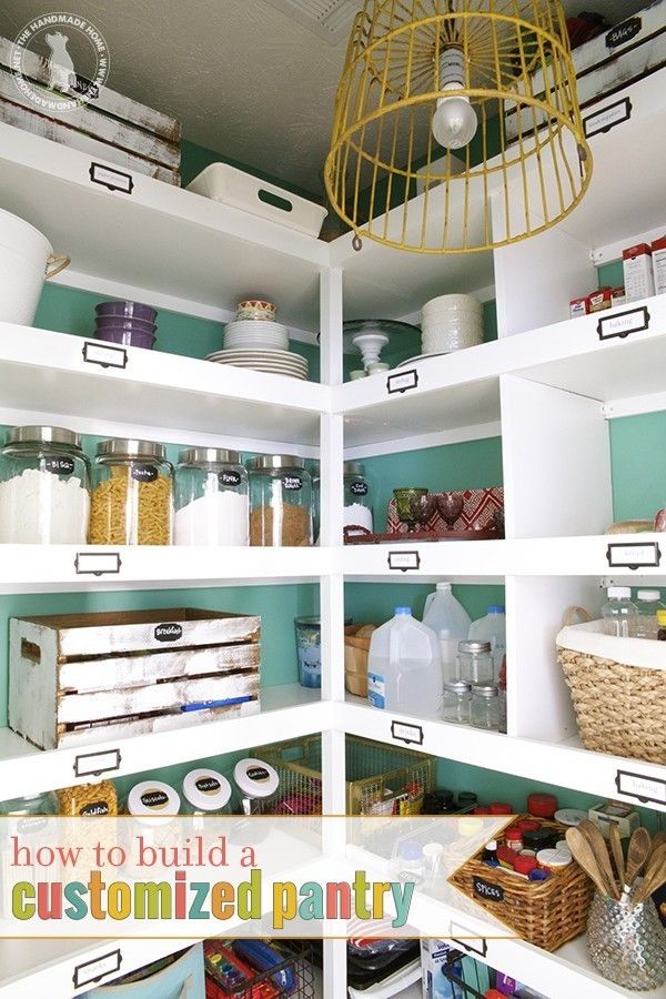 I like the tabs on the shelves for labeling where things go in the pantry. This way the whole family can be responsible for helping keep this space organized