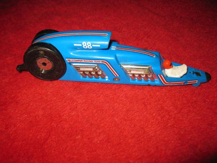 1980's+Schaper+Stomper+Zip+Car+Drag+Race+Funny+Car+-+Blue+#88+-+Stomper+Racing+Team