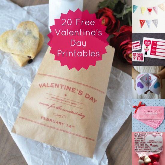 20 FREE Valentine's Day printables
