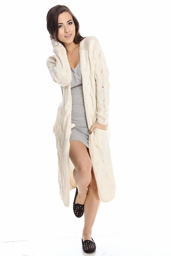 cream cardigan#long cardigan#cable knit cardigan#sweater cardigan#open front cardigan#duster cardigan#cheap cardigan