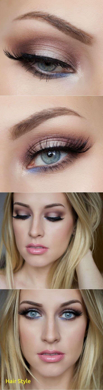 Maquillage de mariage génial pour les yeux bleus, cheveux bruns   – ALL Best Pin