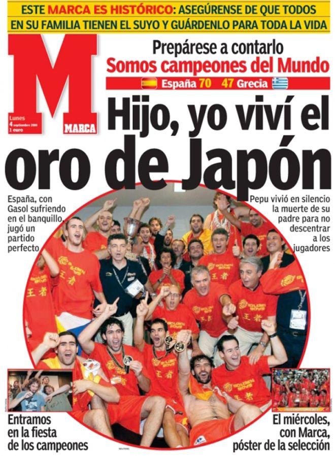 """El 3 de septiembre de 2006 la selección de """"ba-lon-ces-to"""" se proclamó campeona del mundo tras imponerse 70-47 en la final a Grecia. Un día que cambió la historia del deporte de la canasta en nuestro país."""