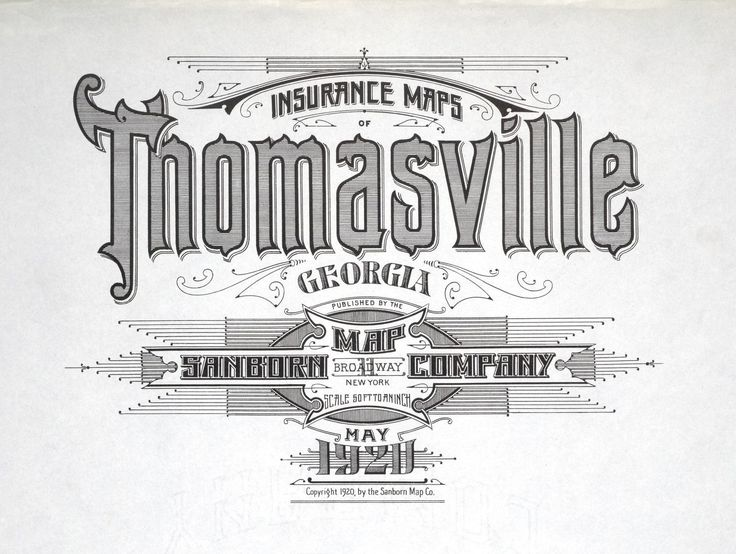 Fire Insurance Map Typography from 1880-1920, Pt.2