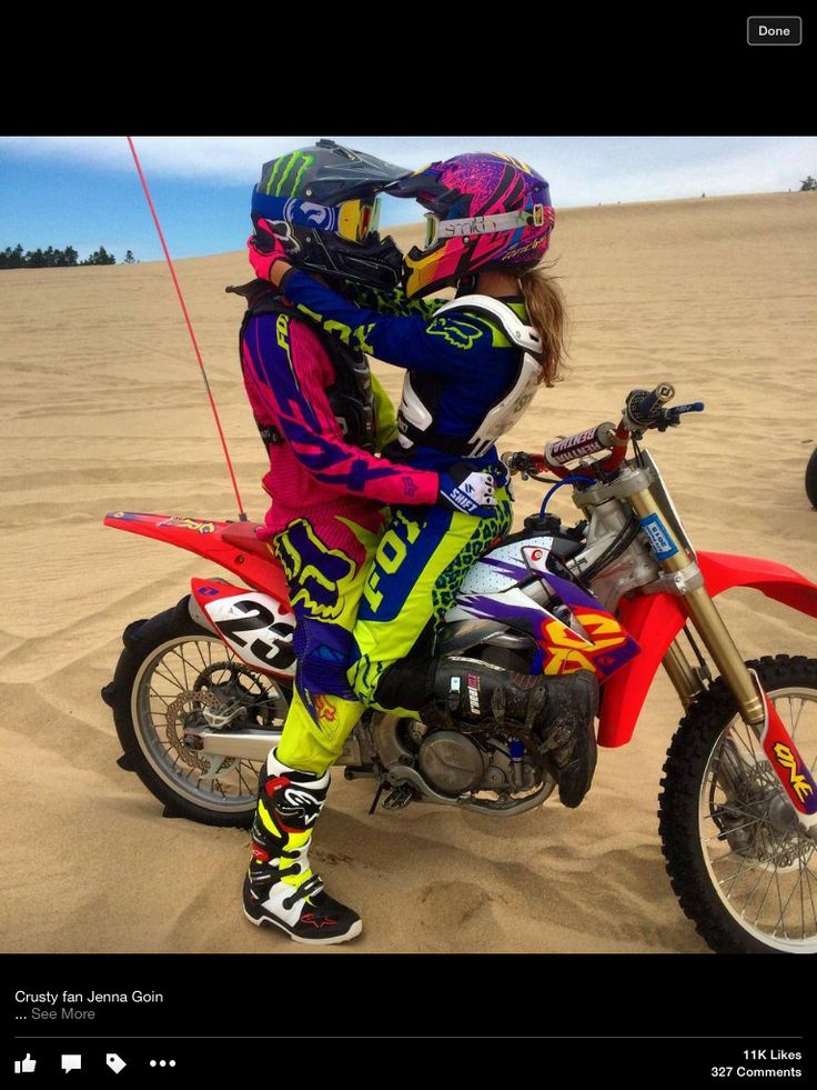 Dirt bike couples....awww my ex and i were like that but he ended up cheating on me. sucks but its his lose not mine waiting for the right guy who wont cheat on me, will lov me for me