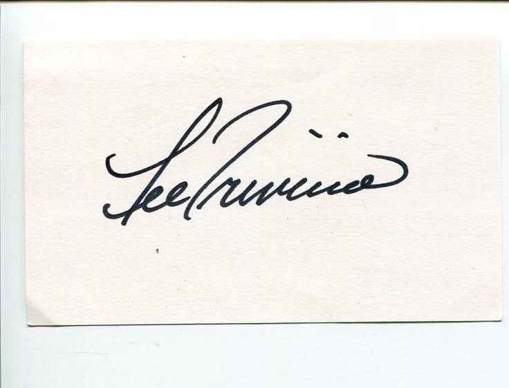 Lee Trevino PGA Golf US British Open Ryder Cup Champ Signed Autograph