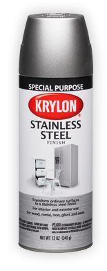"Krylon spray paint ""Stainless Steel"" finish, for appliances                                                                                                                                                      More"