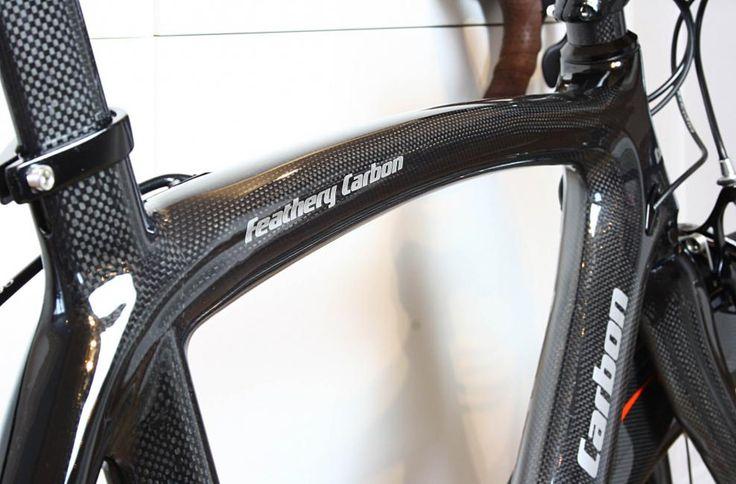 Feathery Carbon Rennrad Rahmen, Gabel und Sattelstütze 54cm, 3k klar.