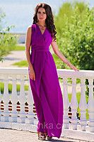 Фиолетовое платье в пол Золото 40644873