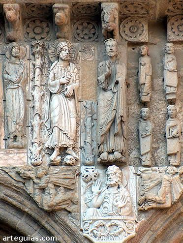 Detalles escultóricos de la Fachada de Las Platerías de la Catedral de Santiago de Compostela
