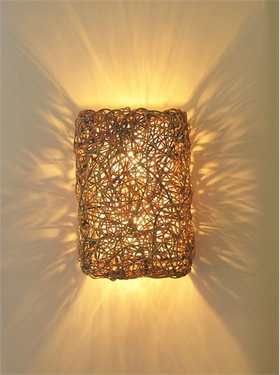 contemporary wall sconce from birch willow - Designer Wall Lamps