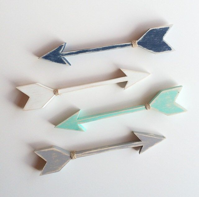 Wooden Arrow wall art set of 3. Gallery wall // by EastPlum
