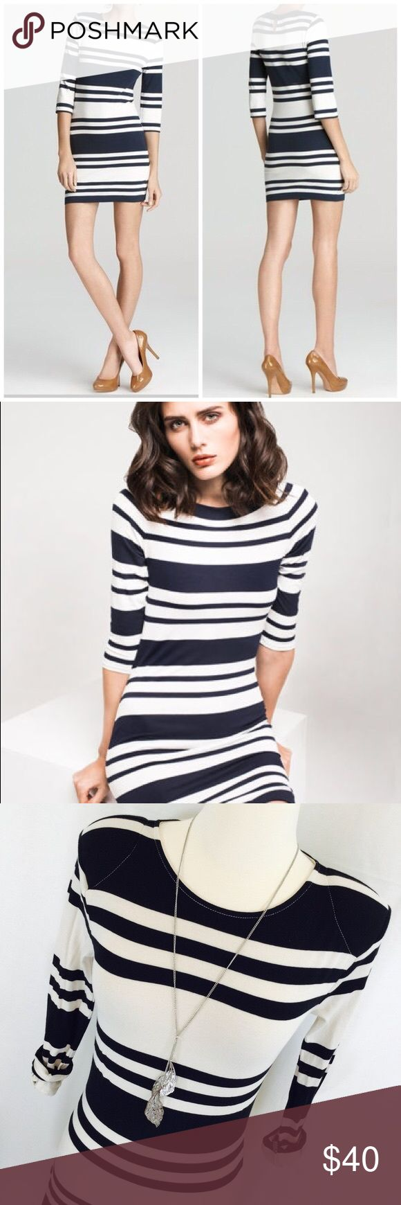 FRENCH CONNECTION bodycon dress! Bodycon cotton fabric dress with sleeves French Connection Dresses Mini