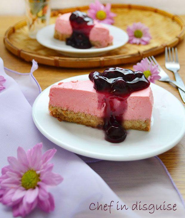 Yogurt and Ricotta Berry Cheesecake Recipe - RecipeChart.com