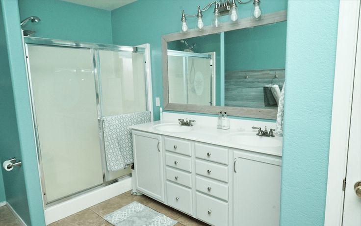 DIY Master Bathroom Makeover - Bye-Bye, Arizona Tan!