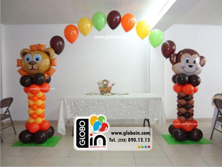 Arco y columnas de globos Safari Kids