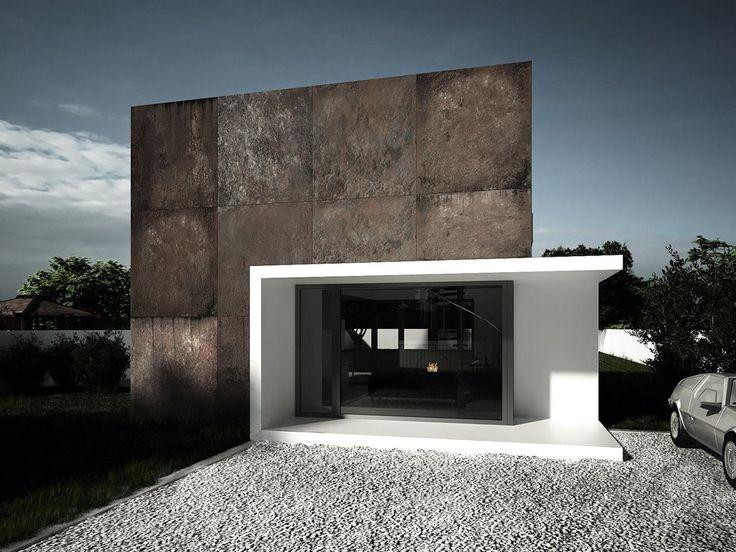 Sergey Makhno, Rusty Cube, concept for house near Kiev