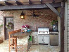 Inspírate: Cocinas al aire libre | Decorar tu casa es facilisimo.com                                                                                                                                                      Más