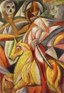 The Death Rider - David Davidovich Burliuk - The Athenaeum
