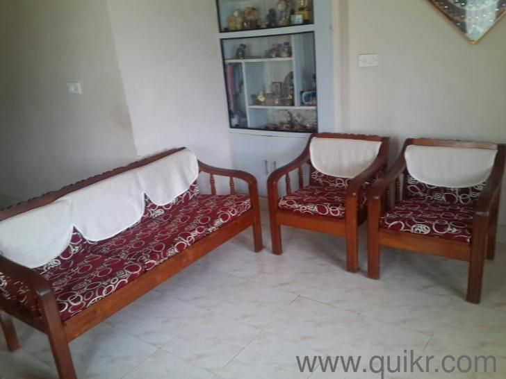 1 2 Pure Teak Wood Sofa Set In Seetamma Peta Vizag Used Home