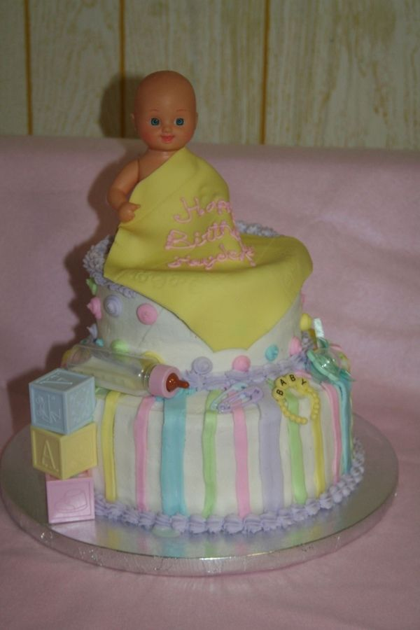 Birthday Cake For Baby Doll ~ Best baby doll party images on pinterest shower showers and petit fours